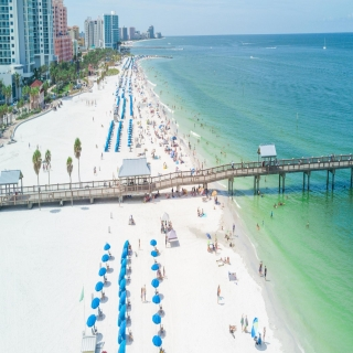 Drone shot of Clearwater Beach