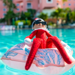 Sunny the Elf in Pool